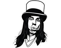 Anthony Kiedis vector image