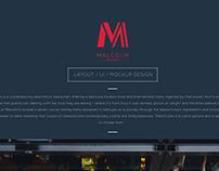 MALCOLM BISTRO - Web Design