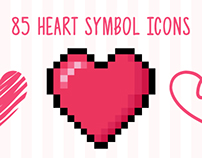 85 VECTOR HEART SYMBOL ICONS