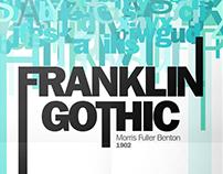 Frankling Gothic Type specimen poster