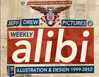 WEEKLY ALIBI: Illustration & Design 1999-2012