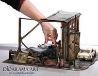 Car Garage/ Retro /Scale 1:24 By Gül ipek. istanbul