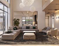 Inside the modern house