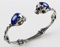 Cuff skull bracelet