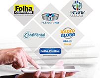 Anúncio Grupo Folha de Comunicação. Institucional