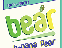 Bear Banana Pear packaging and branding.