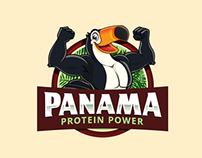 Logo + Character/Mascot Panama Protein Power