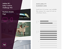 Adobe XD - Daily Creative Challenge #05