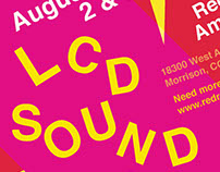 Typographic Syntax Concert Poster-LCD Soundsystem, 2016