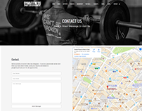 Contact Page - Gym WordPress Theme by Visualmodo