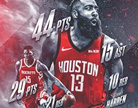 James Harden & Clint Capela | Houston Rockets