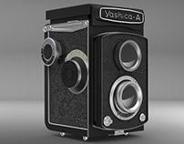 PROJET SCOLAIRE: Modélisation 3D d'un Yashica-A