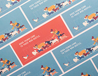 Chinese New Year Postcard - Dog