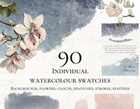 90 Free Watercolor Swatches
