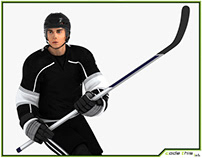 3D Model: Hockey Player HQ 003