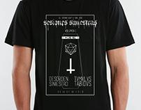 Sesiones Siniestras - Diseño de camiseta