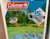 Coleman Steel Wall Above Ground Pool Packaging Design
