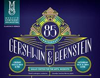 Gershwin & Bernstein Symphony Poster