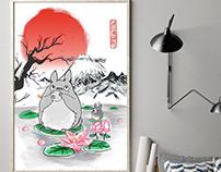 Totoro Ink Art