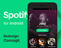Spotify for Android Redesign Concept
