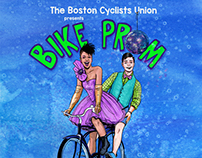 BCU Bike Prom Fundraiser Poster Art