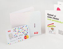 Biip credit card for teens Corporate Identity