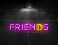 Friends restaurant logo | شعار وهوية مطعم فريندز