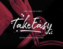 Take Easy - Free Dry Brush Font
