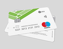 """""""LKU MAESTRO"""" banko kortelės dizainas"""