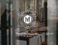 2018, maggie' all magic hall, logo design.