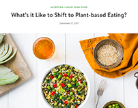 Luvo Foods Blog Posts on Health, Nutrition and Eating