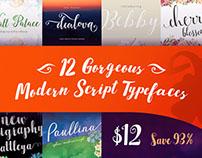 12 Gorgeous Modern Script Typefaces