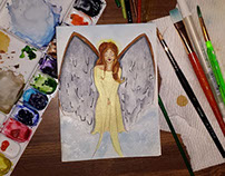 Angel Birthday Card