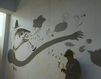 Illustrations on a wall