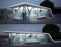 Design of the Bus station (3D visualisation)