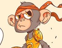 Monkey gladiator