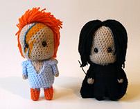 David Bowie and Alan Rickman