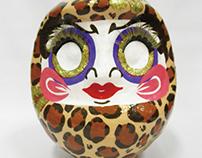 leopard pattern daruma