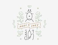 Andy+Inez: Wedding Logo