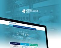 Hosting.com.ar diseño de logo y página web