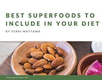 Best Superfoods to Include in Your Diet Terri Wattawa