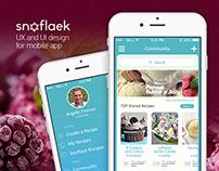 SNOFLAEK — UX and UI design for mobile app