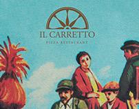 Il Carretto Pizza Restaurant Logo and menu design