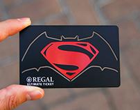 Regal Cinemas Ultimate Metal Ticket,Batman vs. Superman