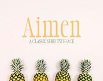 Aimen Free Classic Serif Typeface