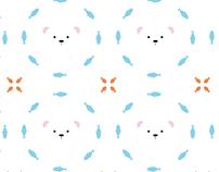 animaletti b(i)anchini pattern