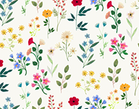 Spring Botanicals / Surface Pattern Design
