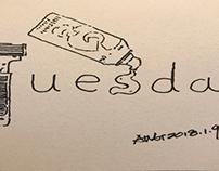 早安篇。一周的第二天,Tuesday(周二),T须下,保持持续的状态和精神,加油!搁笔,早安!
