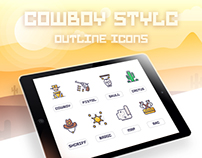 Cowboy Style Outline Icon