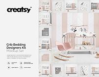 Crib Beddind Designers Kit Mockup Set